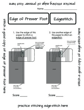 Paper Sewing - Learning to Sew Edge of Presser Foot and Ed