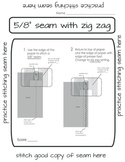 Paper Sewing - Learning to Sew a Standard Seam