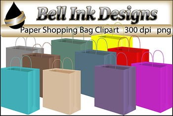 Paper Shopping Bags Clipart