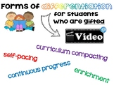 Gifted Differentiation Paper Slide Video