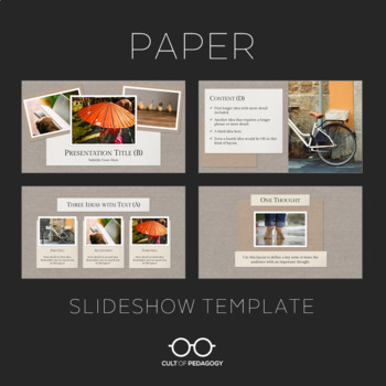 Paper: Slideshow Template for PowerPoint and Google Slides