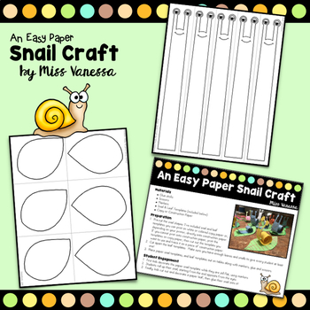 Snail Craft And Writing Prompt