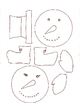 Paper Snowflake Snowman Art Activity
