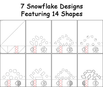 Paper Snowflakes Crafting Activity - Basic
