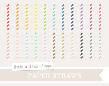 Paper Straw Clipart; Drink, Drinking, Party