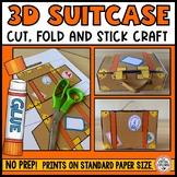 Paper 3D Suitcase Craft