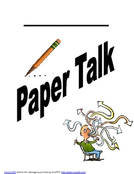 Paper Talk Notebook Cover