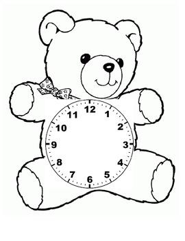 Paper Teddy Bear Clock
