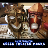 Paper Templates for Greek Theatre Masks