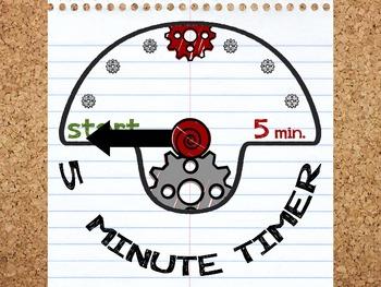 paper timer 5 minutes by miss colon teachers pay teachers
