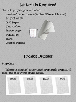Paper Towel Absorbency Project