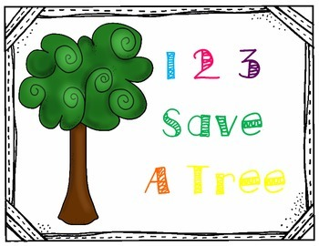 "Paper Towel Dispenser Sign- ""1 2 3 Save a Tree"""