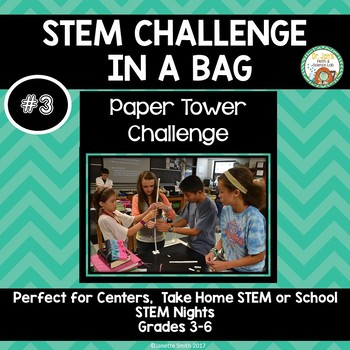 Paper Tower Challenge:  STEM Challenge in a Bag