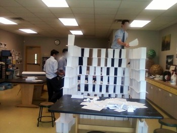Paper Tower Construction