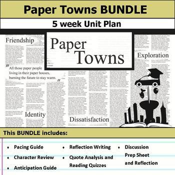 Paper Towns Unit Bundle Unit Bundle