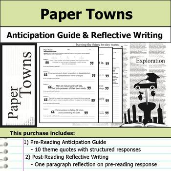 Paper Towns - Anticipation Guide & Reflection