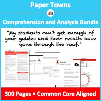 Paper Towns – Comprehension and Analysis Bundle
