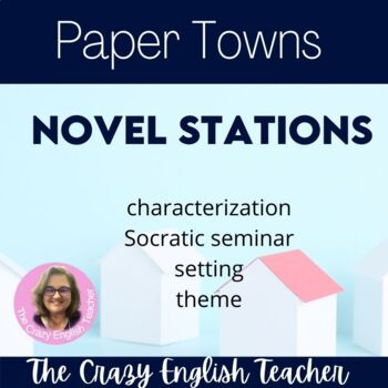 Paper Towns Novel  Literacy Stations