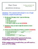 Paper Towns  (RESPONSE JOURNAL)