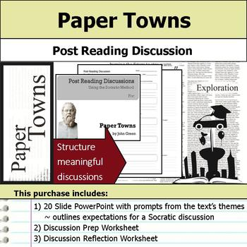 Paper Towns - Socratic Method - Post Reading Discussions
