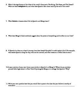 Paper Towns Socratic Seminar Discussion Questions