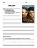 Paper Towns and Fault in Our Stars Reading Guide & Chapter Questions- John Green