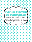 Paper Towns by John Green Unit
