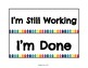 Paper Tray Signs (White&Rainbow)