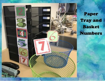 Paper Tray and Basket Numbers