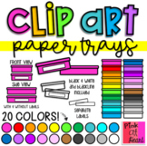 Paper Trays Clip Art / Set of 54 Images