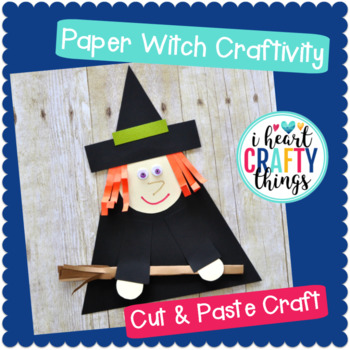 Paper Witch Halloween Craftivity -Room on the Broom Craft