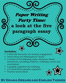 Paper Writing Party Time: a look at the 5 paragraph essay