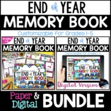 Paper and Digital End of Year Memory Books Bundle, End of