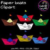 Paper boats clipart