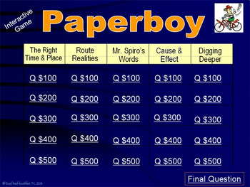 Paper Boy by Vince Vawter, 2014 Newbery Honor Book, Recovery from Stuttering