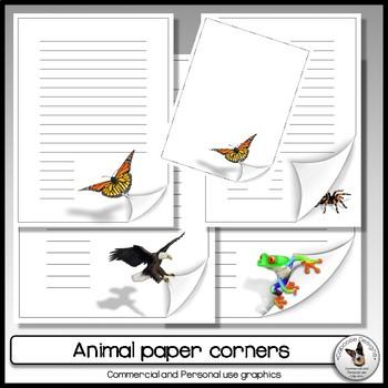 Paper corner clip art FREEBIE