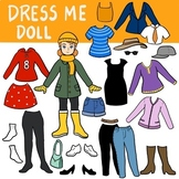 Paper doll dress up (EFL, Spanish, clothes design, weather)