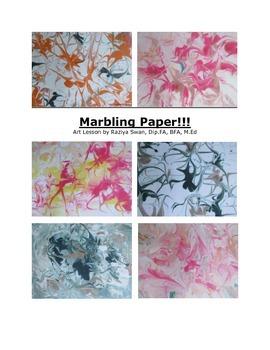 Paper marbling!! Art Lesson!!
