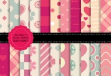 Paper of Love, 22 Digital Papers, Large Pack, High Resolut