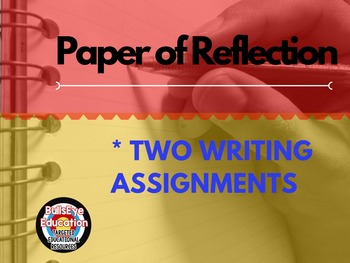 Paper of Reflection Writing Assignment