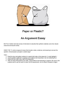 Paper or Plastic? Argument Writing in the Science Classroom
