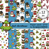 Paper pack owl christmas