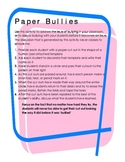 Paper people - Anti Bullying activity