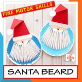 Paper plate Santa beard - Christmas / Santa craft