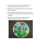 Paper plate landscapes