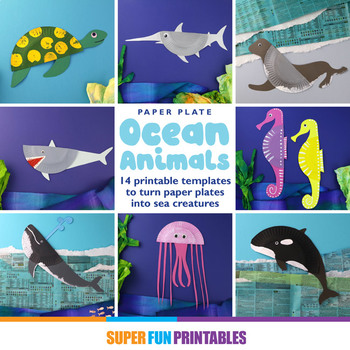 Paper plate ocean animals