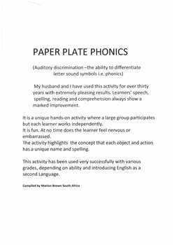 Paper plate phonics