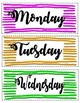 Paper strips of the Days of the week