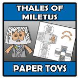 Paper toys - Thales of Miletus - Tales de Mileto