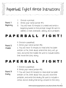 Paperball Fight & Write: A Back to School Activity